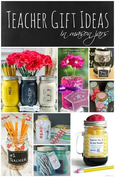 Teacher Gift Ideas - Mason Jar Crafts Love