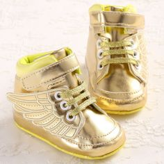 Child Gold Pony Wing Toddler Boots