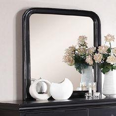 Free 2-day shipping. Buy Benzara Polyresin Mirror With Solid Frame, Black at Walmart.com Vanity Wall Mirror, Round Wall Mirror, Dresser With Mirror, Bathroom Mirrors, Bathroom Layout, Master Bathroom, Home Decor Mirrors, Wall Decor, Home Decor Trends