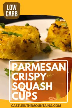 Parmesan Crispy Squash Cups - How to make crispy squash.