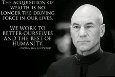 This is why I love Star Trek, because it stands for honor, integrity, dignity, and diversity!