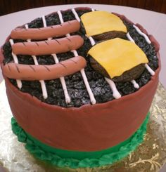Barbeque pit cake