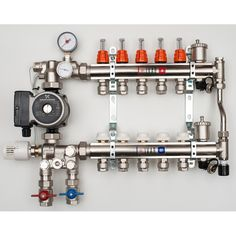 2-12 Port Multi Zone Mixing Manifolds 2-12 Port Multi Zone Mixing Manifolds Complete with Grundfos A Rated Pump, Full System Bypass, Manifold bypass, Tempe