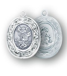 Sterling Silver Oval St. Michael Medal by HMH | Catholic Shopping .com