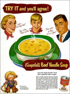 Campbell's Beef Noodle Soup 1953   by 1950sUnlimited