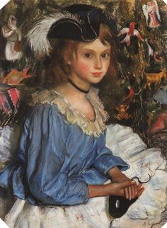 Katya In Blue Dress By A Christmas Tree by Zinaida Evgenievna Serebriakova Handmade oil painting reproduction on canvas for sale,We can offer Framed art,Wall Art,Gallery Wrap and Stretched Canvas,Choose from multiple sizes and frames at discount price. Renoir, Figure Painting, Painting & Drawing, Estilo Popular, Portraits, Oil Painting Reproductions, Russian Art, Baymax, Beautiful Paintings