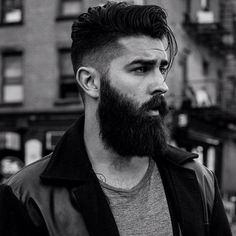 fade hairstyle on bearded man #menshairstylesfade