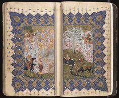 Khamsah-i Nizami [Nizami's Quintet (Five Stories)], by Nizami Ganjavi, Nizam al-Din Abu Muhammad Ilyas ibn Yusuf (1140 or 41-1202 o4 3). 9 Ramadan 970 H/2 May 1563.