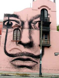 Mural in Lima, Peru commissioned to commemorate the 100th anniversary, in 2004 of the birth of Salvador Dalí.