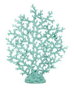 Large Teal Coral #zulily #zulilyfinds