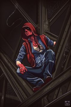 Urban Spiderman by yehuda adi devir Marvel Dc Movies, Marvel Comics, Urban Legends, Comic Artist, Deadpool, Coloring Books, Spiderman, Avengers, Fan Art