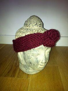 Deep red woolen headband