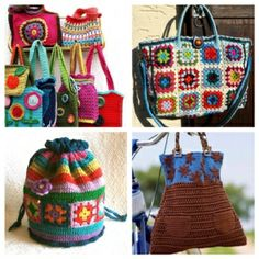 jean hippie purse | Gorgeous Bags! | Knitting and Crochet