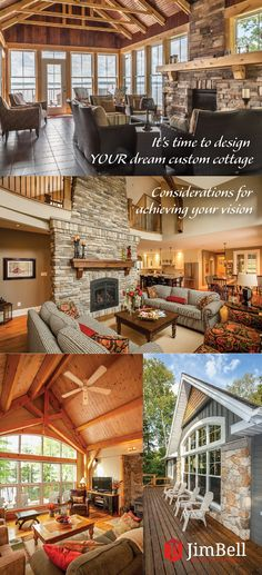 It's Time to Design YOUR Dream Custom Cottage—Considerations for achieving your vision - Jim Bell Architectural Design Inc. Commercial Architecture, Waterfront Homes, Young Children, Grandparents, Grandchildren, Building Design, Custom Homes, Cottages, Empty