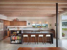 long kitchen WAY too modern