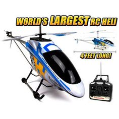 Colossus METAL 3.5CH RC Helicopter (Worlds Largest Helicopter)