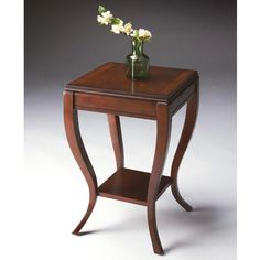 Side Table - Plantation Cherry - 2113024. Side Table - Plantation Cherry - 2113024 Selected solid woods, wood products and choice veneers. Four-way matched cherry veneer top with birch veneer border cherry veneer aprons and lower shelf. Product Specifications Dimen.. . See More Side Tables at http://www.ourgreatshop.com/Side-Tables-C689.aspx