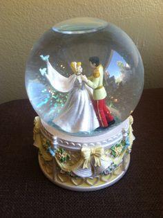 Vintage Disney Cinderella Wedding Snow Globe by VintageVientos, $80.00