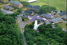 Lighthouse and Fort Hancock on Sandy Hook, part of my high school. Sandy Hook, Jersey Girl, Lighthouse, Mansions, House Styles, Retirement, High School, Bell Rock Lighthouse, Light House