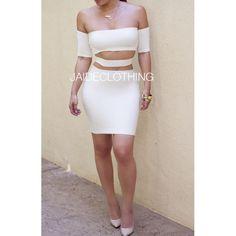 White Cutting it Out Mini Dress - Jaide Clothing