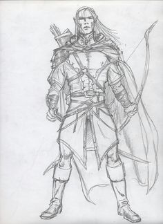 Male half elf ranger