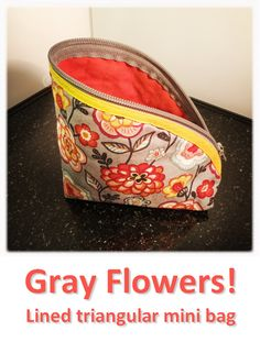 Gray Flowers! Mini Bag, Lunch Box, Gray, Flowers, Bags, Collection, Handbags, Grey, Bento Box