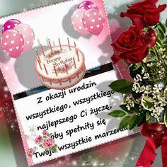 Dla każdego: URODZINY Place Cards, Happy Birthday, Place Card Holders, Acv, Polish, Pictures, Happy Brithday, Urari La Multi Ani, Happy Birthday Funny