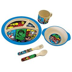 Initiative 4 Piece Mealtime Dinnerware-plate,bowl,fork,spoon Marvel Spiderman Buy One Give One Cups, Dishes & Utensils Bowls & Plates