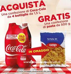 Pasta gratis con Coca Cola | Campioni omaggio gratuiti, Concorsi a premi, Buoni sconto - DimmiCosaCerchi.it