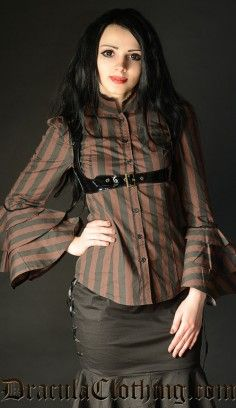 Gorgeous Steampunk Blouse www.draculaclothing.com