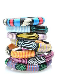 Bangles Woven African bracelets bangle set friendship by NoahsCrew, $24.00