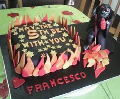 Darth Vader Fire Cake