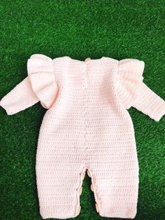 Items similar to Boho Pink handmade crocheted knitted babygirl overall ruffle shoulder birthday gift on Etsy Boho Pink Christmas handmade crocheted knitted babygirl Crochet Baby Pants, Crochet Baby Sandals, Baby Girl Crochet, Newborn Crochet, Crochet Bunny, Love Crochet, Crochet For Kids, Baby Knitting Patterns, Baby Patterns