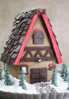 Gingerbread House using Salt Dough, to keep year after year!