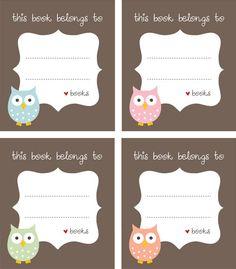 Free Owl bookplates