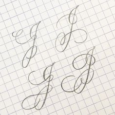 J for the challenge. Trying to make them different from the I as much as possible 😂😂😂 ⠀⠀⠀⠀⠀⠀⠀⠀⠀ ⠀⠀⠀⠀⠀⠀⠀⠀⠀… Flourish Calligraphy, Calligraphy Drawing, Copperplate Calligraphy, How To Write Calligraphy, Calligraphy Handwriting, Calligraphy Letters, Penmanship, Cursive, Handwriting Alphabet