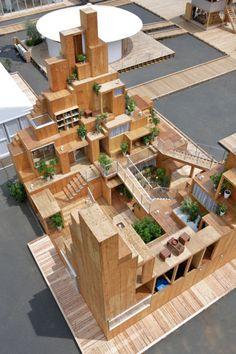 Design interieur en architectuur vloeien in elkaar over bij dit paviljoen van Sou Fujimoto bij House Vision 2016 in Tokyo.