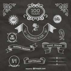 free-chalkboard-centenary- website with chalk fonts