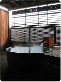 Japanese hot tub