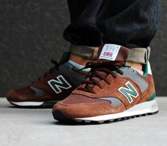 New Balance 577-Brown-Grey-Green #Newbalance #Trainers #Rectro
