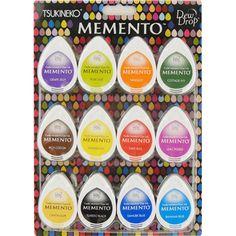 Image detail for -Craft Supplies » Memento Dew Drop Dye Inkpads 12pk - Gum Drops