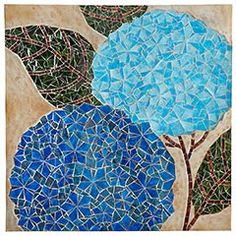 Mosaic Hydrangea Wall Decor (from Pier 1, but use as inspiration w/ paper--original is made from hand-carved, hand-painted glass)
