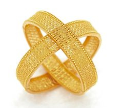 Gold bangles from India