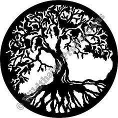 Tree of Life 2 CNC DXF for Plasma Laser Waterjet Clip Art Vector ...