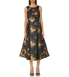 Charlet floral-jacquard dress