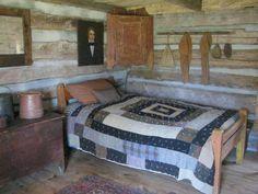 Old Log Cabin Bedroom - Bing Images