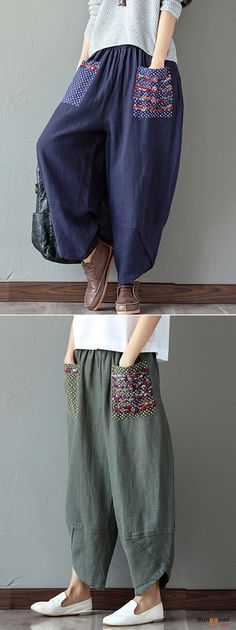 Dress Vintage Casual Pants Ideas For 2019 Cute Dresses, Vintage Dresses, Vintage Outfits, Autumn Fashion Casual, Boho Fashion, Casual Fall, Womens Fashion, Denim Look, Mein Style
