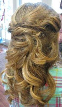 long, large curls