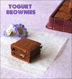Yogurt brownies,without egg