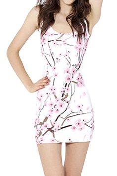 Pink Queen Womens Sakura Digital Print Low-cut Bodycon Mini Tank Dress Pink Queen http://smile.amazon.com/dp/B00ZP28HAS/ref=cm_sw_r_pi_dp_FA1bwb04S4G9P